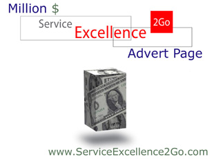 The Million Dollar Service Excellence 2Go Advert Page